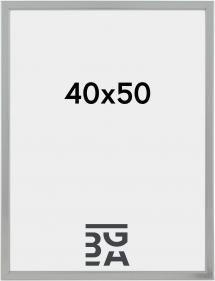 Slim Matt Antirefleksglass Sølv 40x50 cm