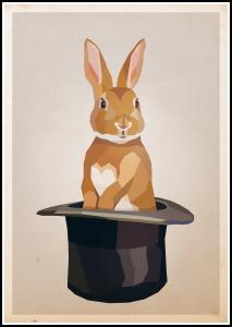 Rabbit in hat Plakat