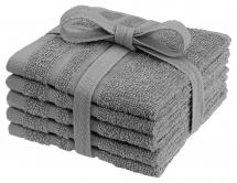 Vaskeklut Basic Frotté - Grå 25x25 cm 5-pakning
