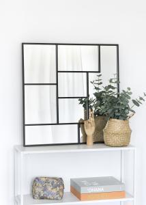 KAILA Speil Asymetric - Svart 70x70 cm