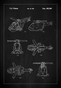 Patent Print - Lego Helicopter - Black