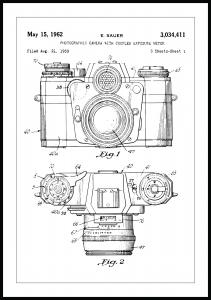 Patenttegning - Kamera I - Poster