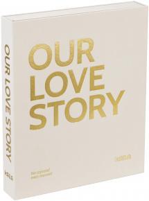KAILA OUR LOVE STORY Creme - Coffee Table Photo Album (60 Svarte Sider)