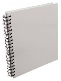 Kvadratisk Spiralalbum Hvit -25x25 cm (80 Hvite Sider / 40 Ark)