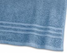 Badehåndkle Basic Frotté - Blå 65x130 cm