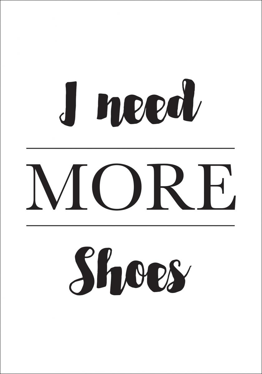 More Shoes - Plakat