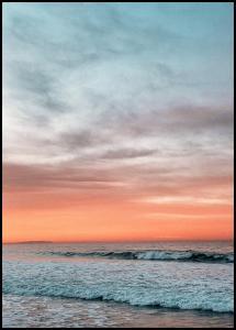 Waves Under Sunset Plakat