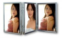Tripla Sølv 3 Bilder Folderamme 10x15 cm