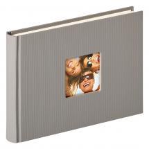 Fun Design Grå - 22x16 cm (40 Hvite sider / 20 ark)