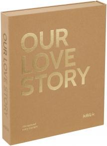 KAILA OUR LOVE STORY Manilla - Coffee Table Photo Album (60 Svarte Sider)