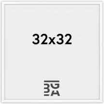Edsbyn Hvit 2D 32x32 cm