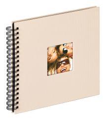 Fun Spiralalbum Sand - 26x25 cm (40 Svarte Sider / 20 ark)