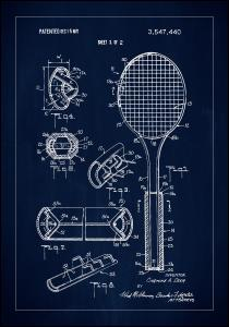 Patent Print - Tennis Racket - Blue
