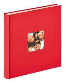 Fun Selvklebende Rød - 33x34 cm (50 Hvite sider / 25 ark)