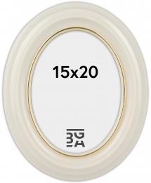 Eiri Mozart Oval Hvit 15x20 cm