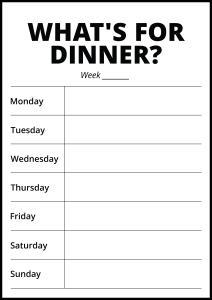Whats For Dinner II - White