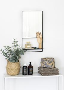 KAILA Speil med hylle - Svart 31x60 cm