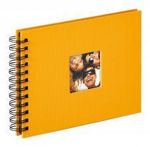 Fun Spiralalbum Gul - 23x17 cm (40 Svarte Sider / 20 ark)