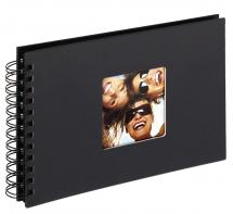Fun Spiralalbum Svart - 23x17 cm (40 Svarte Sider / 20 Ark)