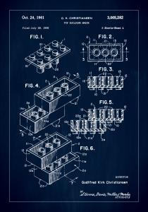 Patent Print - Lego Block I - Blue