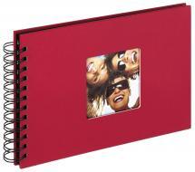 Fun Spiralalbum Rød - 23x17 cm (40 Svarte Sider / 20 Ark)
