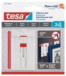 Tesa - Justerbar selvheftende spiker til alle typer vegger (maks 2x2kg)