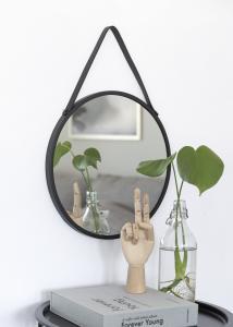 Speil Trapani Svart 38 cm Ø