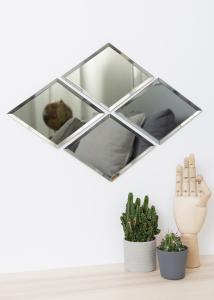Speil House Doctor Diamond Grå 16x22 cm