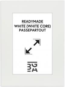 Passepartout Hvit (Hvit kjerne) 30x40 cm (19x29)
