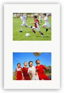 Passepartout Hvit 50x70 cm - Collage 2 Bilder (29x39 cm)