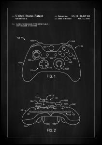 Patent Print - Game Controller III - Black Plakat