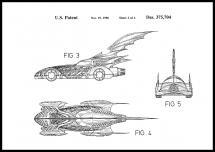 Patenttegning - Batman - Batmobile 1996 II - Plakat
