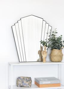 KAILA Speil Fan - Svart 63x70 cm