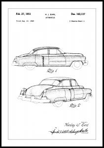 Patenttegning - Cadillac I - Poster
