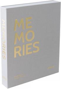 KAILA MEMORIES Grey - Coffee Table Photo Album (60 Svarte Sider / 30 Ark)