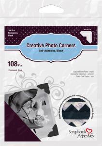3L Creative Photo Corners Svart - 108 stk