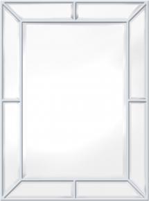 Speil Pimlico Glass Panelled Wood Misty Hvit 79x112 cm