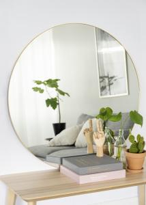 KAILA Round Mirror - Thin Brass 100 cm Ø
