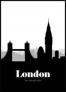 London Skyline - 21x29,7 cm (A4)