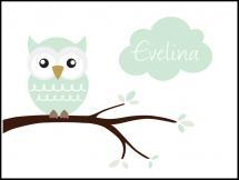 Owl Name Poster Light Green