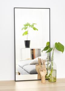 Speil Narrow Svart 40x80 cm
