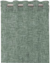 Gardin Med Seilringer Wayne - Mellemgrønn 2-pakk