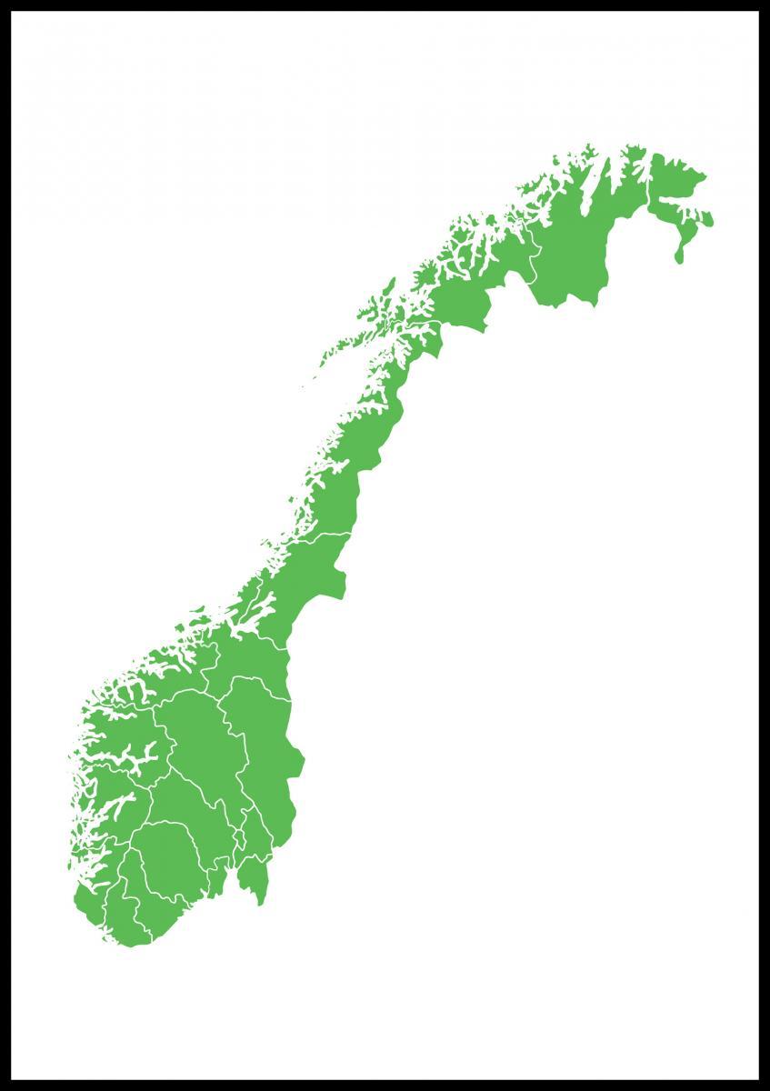 Kart Norge Gronn Bga Fotobutikk