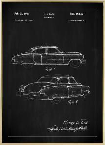 Patenttegning - Cadillac I - Svart