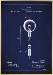 Patenttegning - Lyspære B - Blå