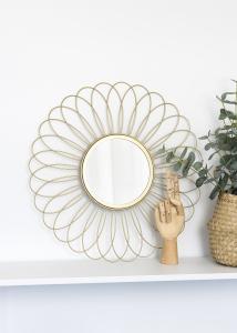 KAILA Speil Flower - Gull 50 cm Ø