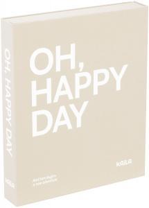 KAILA OH HAPPY DAY Grey - Coffee Table Photo Album (60 Svarte Sider)