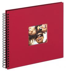 Fun Spiralalbum Rød - 30x30 cm (50 Svarte Sider / 25 Ark)