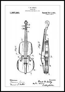 Patenttegning - Fiolin - Poster