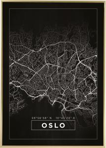 Kart - Oslo - Svart